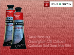 Farba olejna Georgian Oil Colour Daler-Rowney, kolor: Cadmium Red Deep Hue 504, tuba 75 ml