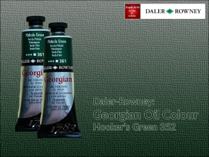 Farba olejna Georgian Oil Colour Daler-Rowney, kolor: Hooker's Green 352, tuba 75 ml