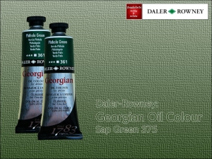 Farba olejna Georgian Oil Colour Daler-Rowney, kolor: Sap Green 375, tuba 75 ml