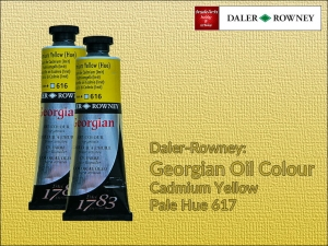 Farba olejna Georgian Oil Colour Daler-Rowney, kolor: Cadmium Yellow Pale Hue 617, tuba 75 ml