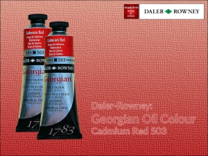 Farba olejna Georgian Oil Colour Daler-Rowney, kolor: Cadmium Red 503, tuba 75 ml