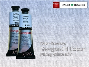 Farba olejna Georgian Oil Colour Daler-Rowney, kolor: Mixing White 007, tuba 75 ml