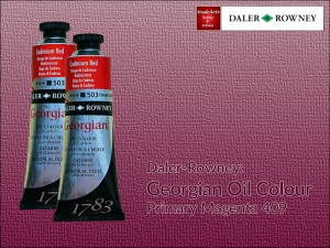 Farba olejna Georgian Oil Colour Daler-Rowney, kolor: Primary Magenta 409, tuba 75 ml