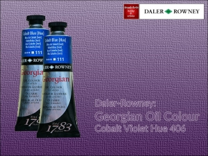 Farba olejna Georgian Oil Colour Daler-Rowney, kolor: Cobalt Violet Hue 406, tuba 75 ml