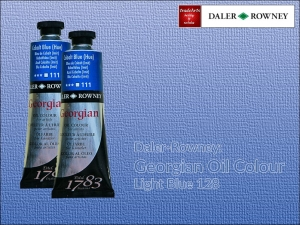 Farba olejna Georgian Oil Colour Daler-Rowney, kolor: Light Blue 128, tuba 75 ml