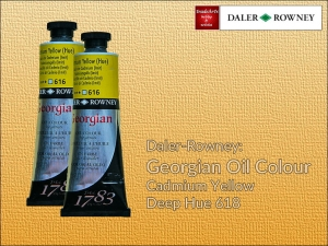 Farba olejna Georgian Oil Colour Daler-Rowney, kolor: Cadmium Yellow Deep Hue 618, tuba 75 ml