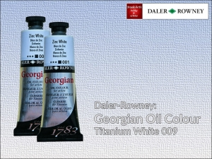 Farba olejna Georgian Oil Colour Daler-Rowney, kolor: Titanium White 009, tuba 75 ml