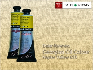 Farba olejna Georgian Oil Colour Daler-Rowney, kolor: Naples Yellow 635, tuba 75 ml