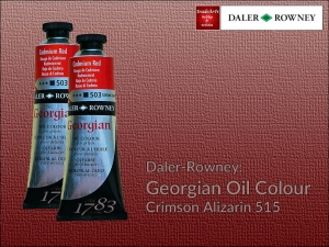 Farba olejna Georgian Oil Colour Daler-Rowney, kolor: Crimson Alizarin 515, tuba 75 ml