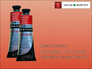 Farba olejna Georgian Oil Colour Daler-Rowney, kolor: Cadmium Orange Hue 619, tuba 75 ml