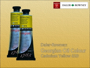 Farba olejna Georgian Oil Colour Daler-Rowney, kolor: Cadmium Yellow 620, tuba 75 ml