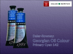 Farba olejna Georgian Oil Colour Daler-Rowney, kolor: Primary Cyan 142, tuba 75 ml