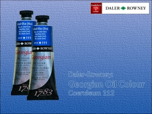Farba olejna Georgian Oil Colour Daler-Rowney, kolor: Coeruleum 112, tuba 75 ml