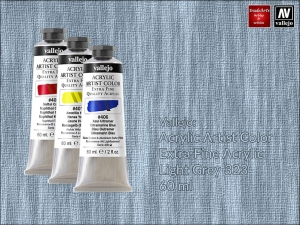 Farba akrylowa Vallejo Acrylic Artist Color, kolor: Light Grey 323, tuba 60 ml