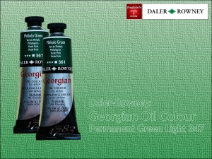 Farba olejna Georgian Oil Colour Daler-Rowney, kolor: Permanent Green Light 347, tuba 75 ml