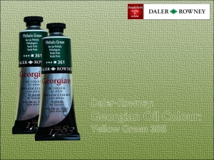 Farba olejna Georgian Oil Colour Daler-Rowney, kolor: Yellow Green 388, tuba 75 ml