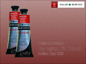 Farba olejna Georgian Oil Colour Daler-Rowney, kolor: Indian Red 523, tuba 75 ml