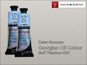Farba olejna Georgian Oil Colour Daler-Rowney, kolor: Buff Titanium 024, tuba 75 ml